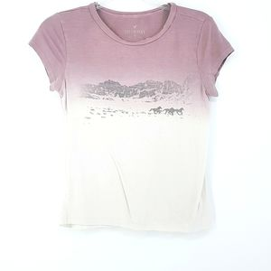 American Eagle Soft Sexy Horse Print Lavender Tee